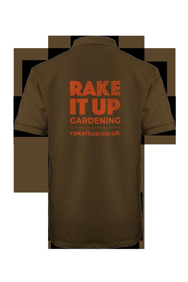 Rake it up polo shirt back image