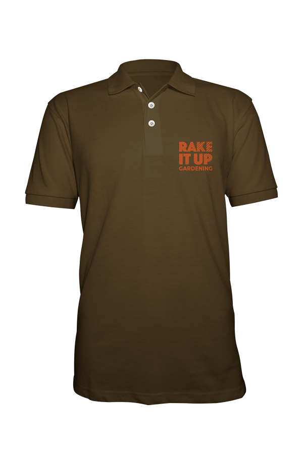 Rake it up polo shirt front image